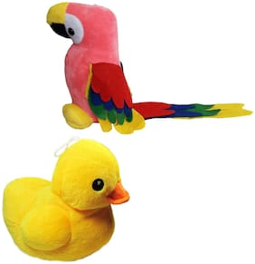 Musical Beautiful stuffed Duck and Parrot toy for Kids