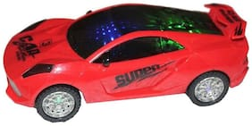 Musical Car With 3D Star Lights with Bump And Go Action