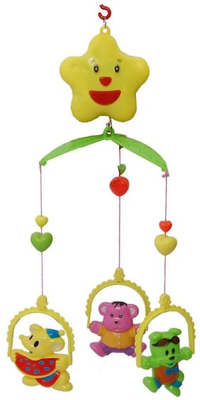 Shanaya Musical Cot Mobile Craddle Set for Infants (Multicolor) (No Batteries Required)