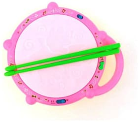 Musical Flash Drum with 2 Sticks Light Sound Battery