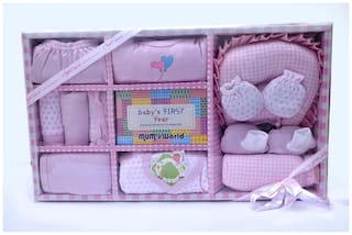 MY BABY TOWN Unisex Gift set - Pink