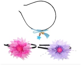 My DT Lifestyle FLOWER SHAPE METAL HAIR BAND COMBO (KHB15)