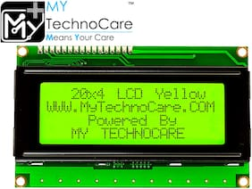MY TechnoCare 20 4 LCD Display Alphanumeric Character Display with Yellow/Green Backlight Module HD44780 Compatible for Arduino UNO;Raspberry PI;8051;AVR;PIC Microcontroller