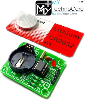 My Technocare DS1307 RTC Module I2C Real Time Clock Kit for Arduino Uno;Raspberry Pi;8051;PIC;AVR;etc Microcontroller Board | Timer;Counter;Clock Electronic circuit.
