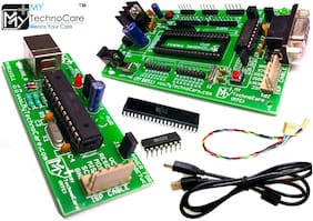 MY TechnoCare 8051 Microcontroller Development Board With USB Programmer electronic board + Atmel AT89S52 Microcontroller + MAX232 Electronics IC