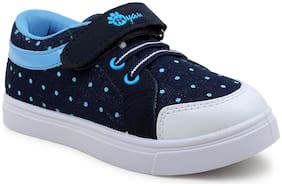 Myau Navy Blue Girls Casual Shoes