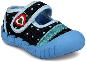 Myau Blue Casual Shoes For Infants
