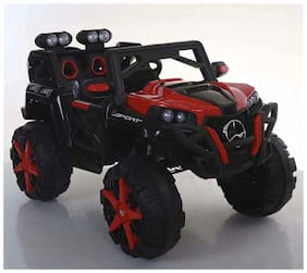 MyWholesale Kids Toys BIG SIZE JEEP 2 SEATER WITH 6 MOTORS 12.7V BATTERY FOR KIDS 1-8 AGE