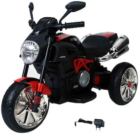 MyWholesale Kids Toys Ride on Battery Operated Bike for Kids with Suspension and 3 Wheels , Made In India