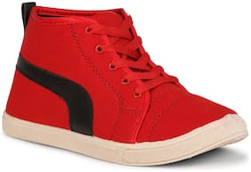 Namchee Red Canvas shoes for boys