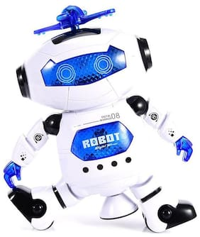 Naughty Dancing Robot with Swinging Arms and Head, Multi Color