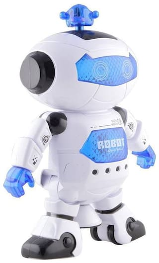 Naughty Dancing Robot with Flashing Ligths and Music (360 Degree Rotate) for Kids