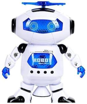 Naughty Dancing Robot  (White, Blue)