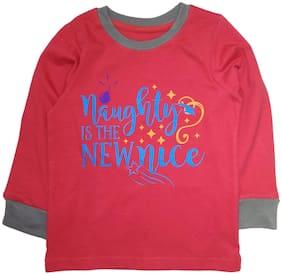 KiddoPanti Boy Cotton Printed T-shirt - Red