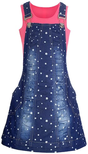 NAUGHTY NINOS Cotton Printed Frock - Blue