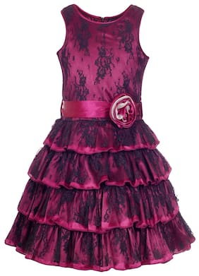 971a083ce9c Naughty Ninos Girl Polyester Embroidered Frock - Purple