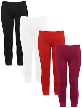 NAUGHTY NINOS Cotton Solid Leggings - Multi