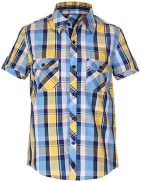 Naughty Ninos Boy Cotton Checked Shirt Multi