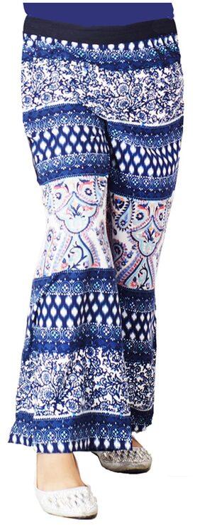 Naughty Ninos Blue Polyester Plazzo