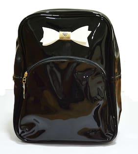 322eceff64 Navizone College Girls   School kids Picnic Glossy bag backpack - Black