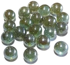 Nawani Collections 25 pcs of Large Size Glass Marbles with Shooter Unique Collection