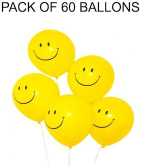 NBC SMILEY PARTY BALLONS (PACK OF 60)
