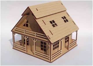 NEKBAL 3D Wooden Puzzle Toy - Cottage House