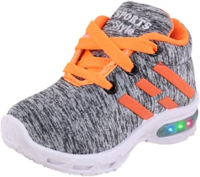 NEOBABY Grey Sport Shoes For Infants