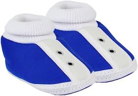 Neska Moda Blue Booties For Infants