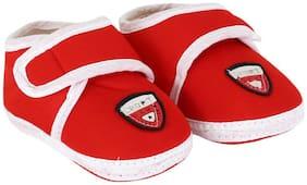 Neska Moda Red Booties For Infants