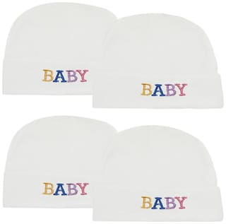 Neska Moda Baby Boy And Girlss And Girls Pack Of 2 White Cap For 0 To 24 Months MT47