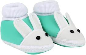 Neska Moda Green Booties For Infants