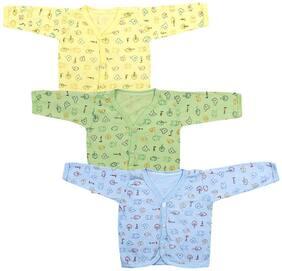 Neska Moda Baby Girl Cotton Solid Sweater - Multi