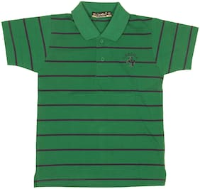 Neuvin Cotton Striped T shirt for Baby Boy - Green