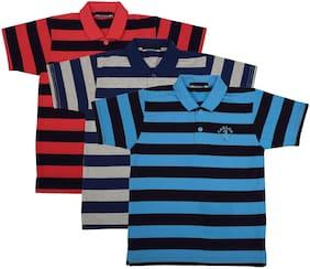 Neuvin Boy Cotton Solid T-shirt - Multi