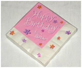 NEW  ~BARBIE~16 LUNCH NAPKINS HAPPY BIRTHDAY FROM BARBIE  PARTY SUPPLIES