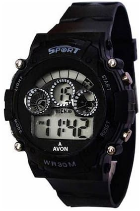 NEW BLACK DIGITAL WATCH WITH 7 LIGHT WITH DIFFERENT COLOR FANCY KIDS AND BOY WATCH Watc