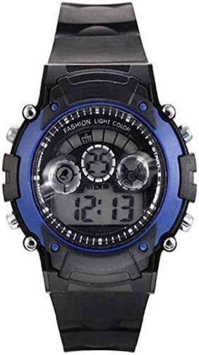 NEW BLUE DIGITAL WATCH WITH 7 LIGHT WITH DIFFERENT COLOR FANCY KIDS AND BOY WATCH Watc