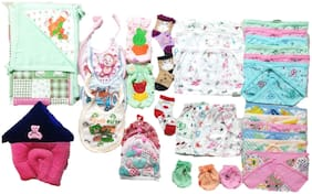 New Jain Traders - Combo of New Born Baby Daily Needs Items in Single Pack - Unisex - 0 to 3 Months (Combo of 34 Items_Ver03)