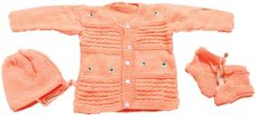 New Jain Traders Baby boy Wool Solid Sweater - Multi