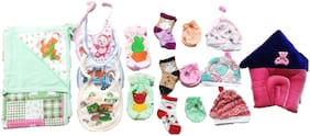 New Jain Traders - Combo of New Born Baby Daily Needs Items in Single Pack - Unisex - 0 to 3 Months (Combo of 16 Items_Ver01)