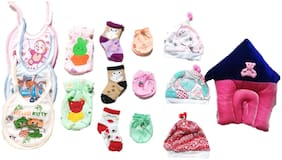 New Jain Traders - Combo of New Born Baby Daily Needs Items in Single Pack - Unisex - 0 to 3 Months (Combo of 15 Items_Ver02)