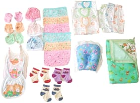 New Jain Traders - Clothes Combo for Baby Boys & Baby Girls (0-3 Months, Combo of 26 Items_Ver08)