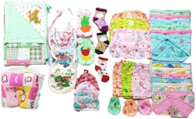 New Jain Traders - Combo of New Born Baby Daily Needs Items in Single Pack - Unisex - 0 to 3 Months (Combo of 34 Items_Ver01)