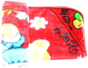 New Jain Traders - Super Soft Mink Blanket for Baby Boys & Girls (Red01)