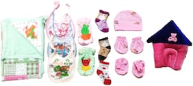 New Jain Traders - Combo of New Born Baby Daily Needs Items in Single Pack - Unisex - 0 to 3 Months (Combo of 13 Items_Ver01