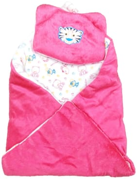16e8296a0 New Jain Traders - New Born Baby Premium Soft Woolen Hooded Blanket Cum  Sleeping Bag Cum