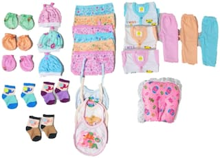 New Jain Traders - Clothes Combo for Baby Boys & Baby Girls (0-3 Months, Combo of 25 Items_Ver01)