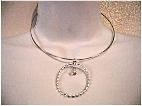 NEW- NINE WEST Women's Silver Tone Multi Row Necklace One Size