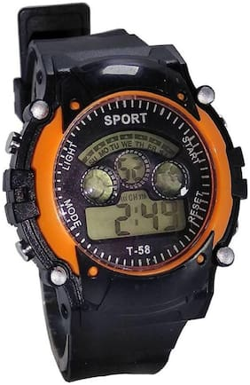 NEW ORANGE DIGITAL WATCH WITH 7 LIGHT WITH DIFFERENT COLOR FANCY KIDS AND BOY WATCH Watc